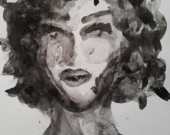 Watercolour woman