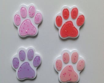 paws cabochons set (4 pcs)