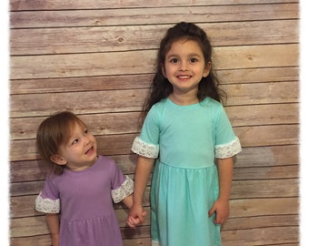 Toddler Easter Dress   Baby Easter Dress   Lace Dress   Teal Toddler Dress   Coral Dress   Purple Dress