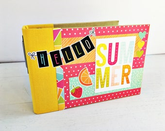 Premade Scrapbook Album, Mini Album, Summer Scrapbook, Vacation Scrapbook, Photo Album, Family Album, Gift for Mom,  Gift for Teacher