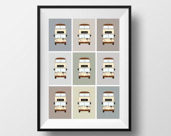 """SHEFFIELD / """"2 pence to town"""" / Bus / Print / A4"""