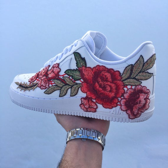 custom nike air force 1 low winter rose. Black Bedroom Furniture Sets. Home Design Ideas