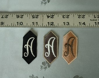 EMBROIDERED MONOGRAMMED INITIAL - A