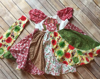 Christmas swirl dress