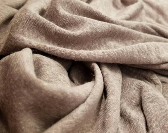 "ORGANIC Hemp/cotton Jersey knit blend by the yard eco-friendly natural fiber 7-7.5oz per yard ""Dirty Lavender"""