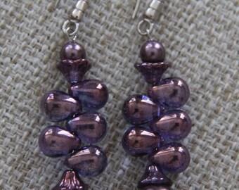 Swarovski Pearl Czech Glass Teardrop earrings