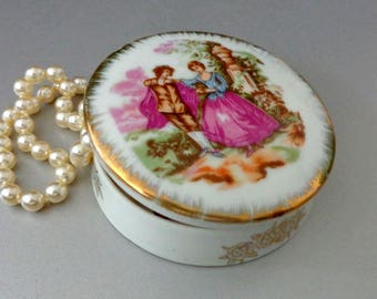 Porcelain Box /Vintage / Ornament / Decorative Box /Small Boxes