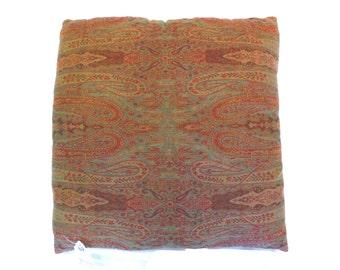 Woven Vintage Paisley Pillow