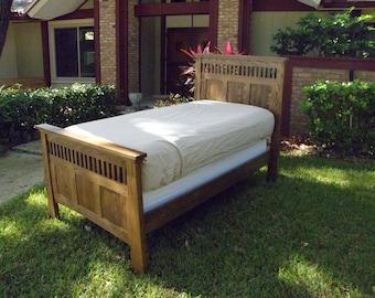 Custom Red Oak twin bed