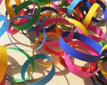 Garland rings paper Garland kunterbunt paper colourful Garland table decoration wedding Garland table Carnival Garland window decorations