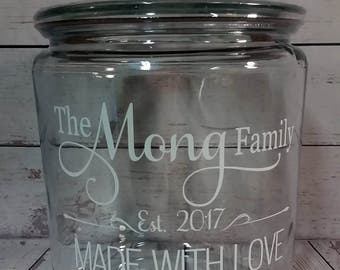 Personalized Cookie Jar / Family Established / Grandma Gift / Mother's Day