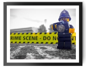 Police Lego instant download | kids room decor | kids bedroom | children's room | boy's room | girl's room | wall art | home decor