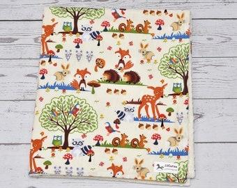 Minky baby blanket - Personalized baby minky blanket - Woodland baby blanket - Woodland nursery - Woodland blanket - Baby shower gift
