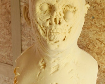 Gore Zombie Latex Blank Casting, Mask Or Display Prop For You To Paint