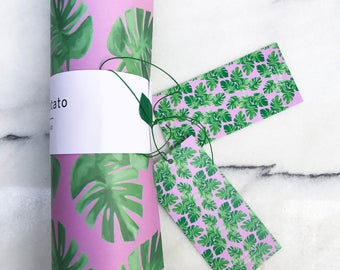 Monstera Pink Wrapping Paper