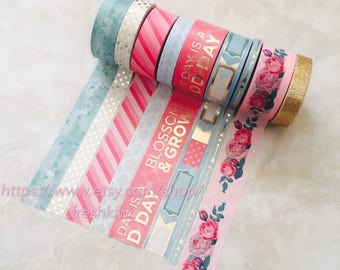 Recollections Washi Tape - Blossom&Grow. Floral. Pink. Blue. Everyday is a good day