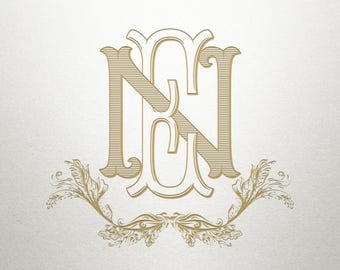 Monogram Scroll Design  - Marietta Scroll -  Scroll Design - Digital