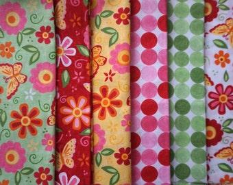 Love U by Deb Strain for Moda Fabrics - Fabric Bundle - 1 fat quarter, 2 half yard pieces, and 3 yard pieces