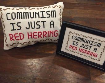 Clue (Movie) - Communism Is Just A Red Herring Cross-Stitch