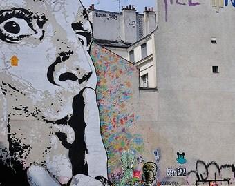 Salvator Dalì Street Art Decor, Street Art Print, Fine Art Prints, Graffiti Wall Art, Wall art Decor, decor urban, spray paint art, graph