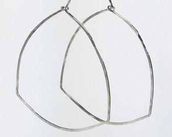Leah Sterling Silver Triangle Hoop Earrings