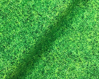 Green Grass Texture Cotton Fabric from the Score Collection by First Blush Studio for Henry Glass Fabrics