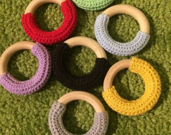 Teether for baby wooden toy