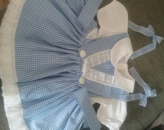 Baby girls handmade Gingham dress wizard of oz dorothy world book day costume bespoke 3 months to 7 years