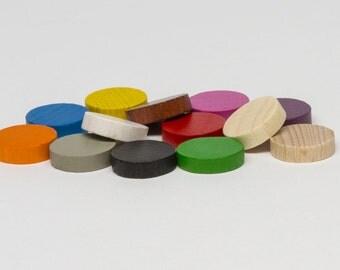10 Wooden discs 15x4 mm