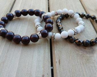 Smokey Night stack, bracelet set, armcandy, fall bracelets