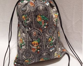 Legend of Zelda Link Drawstring Backpack