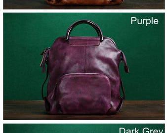 Handmade Leather Backpack Travel Backpack Messenger Bag Shoulder Bag, Leather Rucksack,  Laptop Backpack, Weekender, New Design