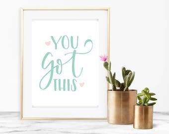 Inspirational Nursery Art - Nursery Decor - Nursery Wall Art - Instant Download - Nursery Wall Decor - Baby Girl Nursery - Baby Shower Gift