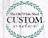 Custom Order - Grace W - Iowa Home Sign