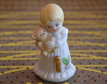 1981 Growing Up Birthday Girls #1 Figurine
