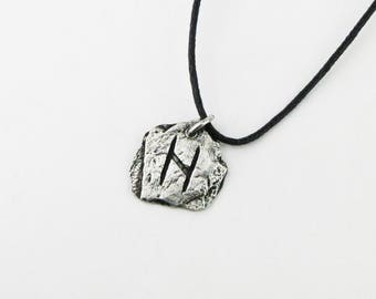 Hagalaz Viking Rune Letter H Runic Pendant