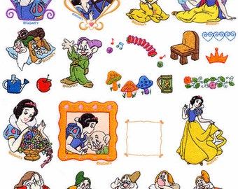 Snow White Embroidery Design Pack / Set