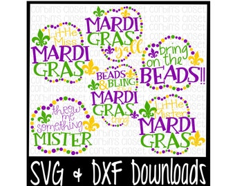 Mardi Gras SVG * Mardi Gras Bundle * Mardi Gras * 6 SVG Cut Files - SVG & dxf Files - Silhouette Cameo, Cricut