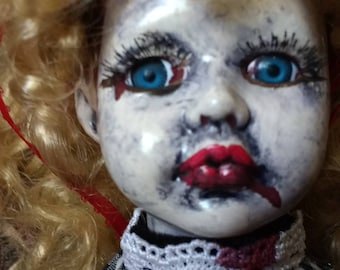 Clair Voyant/altered doll/art doll/creepy doll/Gothic/dark doll/horror/vampire/zombie/Halloween