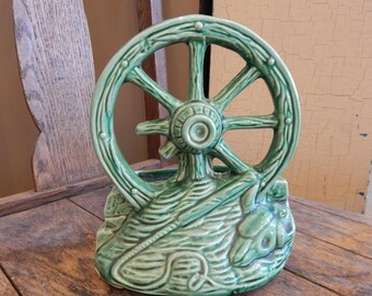McCoy Wagon Wheel Planter