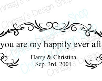 Wedding design template svg / digital sign template / wedding svg / ever after svg / married svg / married date svg / wedding swirls svg