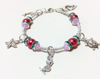 Little Mermaid, Mermaid Style, Mermaid Jewelry, Mermaid Bracelet, Little Mermaid Stuff, Beach Jewelry, Beach Bracelet, Under The Sea