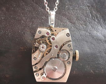 Vintage Watch Movement Pendant