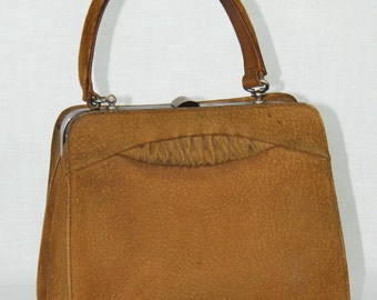 Vintage Brown Leather 1960s Purse