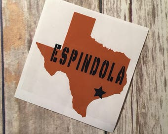 Yeti Decal | Texas state decal | Texas personalized decal |Texas |Lone Star State