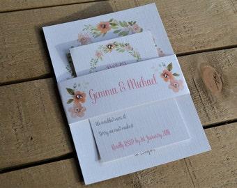 Country Garden Wedding Invitation Set
