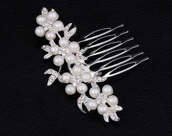 hair pin comb Pearl Wedding