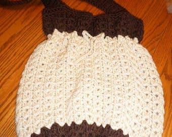 Beach Tote Bag Crochet Carry All Purse