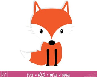 Fox svg - Fox svg file - Fox Clipart - Woodland svg - Animal svg - Fox Cut File - Fox Vector