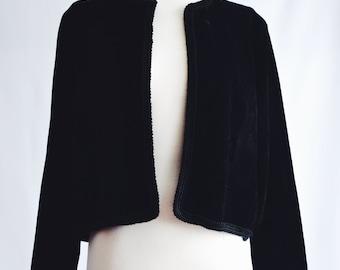 Jacket velvet black